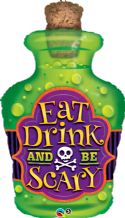 "Eat Drink Be Scary - Large Halloween Balloon (40"") 1pc"